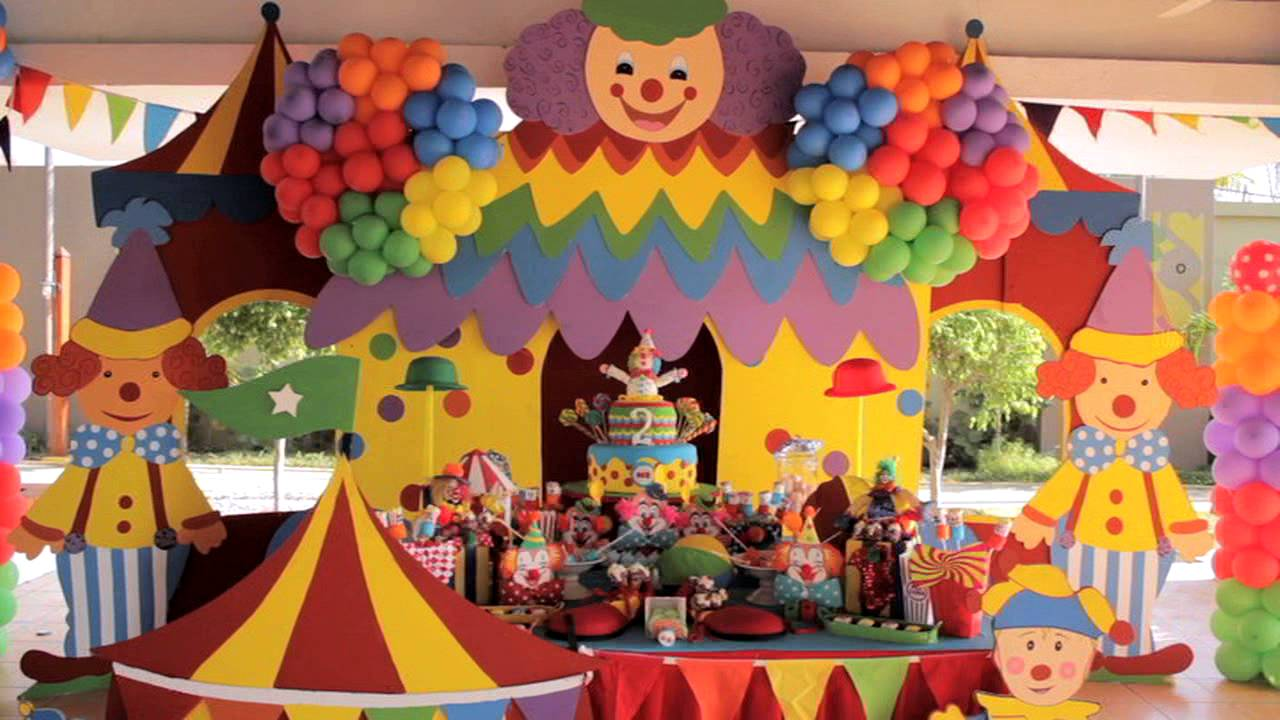 decoracion payaso de circo 1 youtube