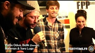 Yaniss Odua, Balik, Naâman, Sara Lugo, Francky and Bim Freestyle at Party Time 16 NOV 2014