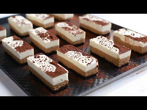 (No-oven) Coffee coconut cheesecake recipe - Bánh kem pho-mát dừa cà phê