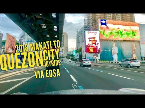 2018 Metro Manila Joyride Makati to Quezon City via EDSA and Back No Traffic 60FPS