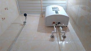 Как за 20 минут установить водонагреватель на гипсокартон после ремонта в ванной