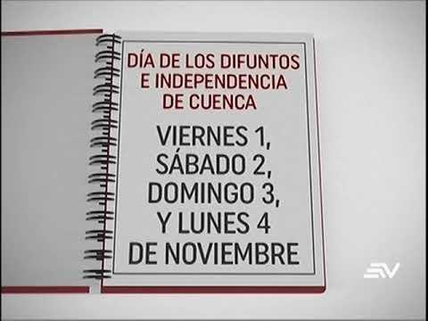 Calendario de Feriados del 2019
