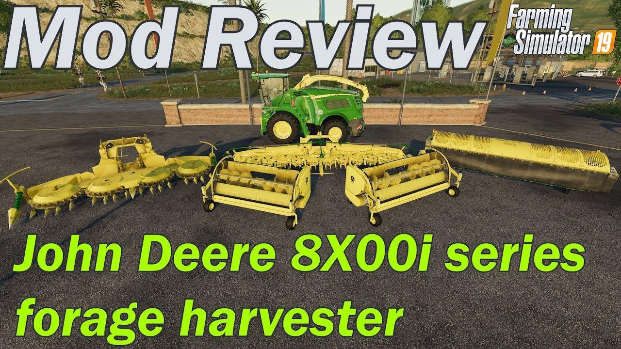 Mod Review - John Deere 8X00i Forage Harvester pack