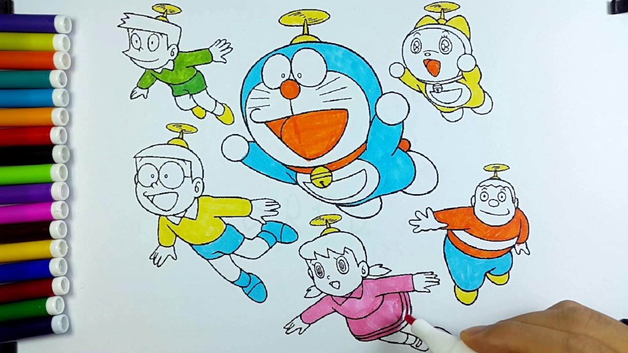 Warna Warni Cara Mewarnai Doraemon Untuk Anak Belajar Anak Lucu