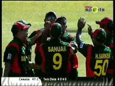 **Rare** Cricket World Cup 2003 5th Match Bangladesh v Canada Extended Highlights