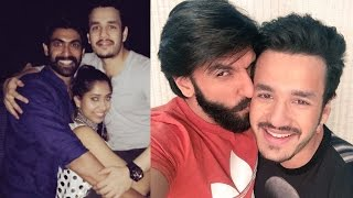Akhil Akkineni Unseen Private Moments with Celebrities  !  Celebrity Private Photos