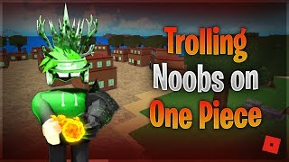 TROLLING NOOBS WITH THE MERA DEVIL FRUIT! (Roblox One Piece Millennium)