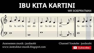 not balok Ibu Kita Kartini - lagu wajib nasional - doremi / solmisasi