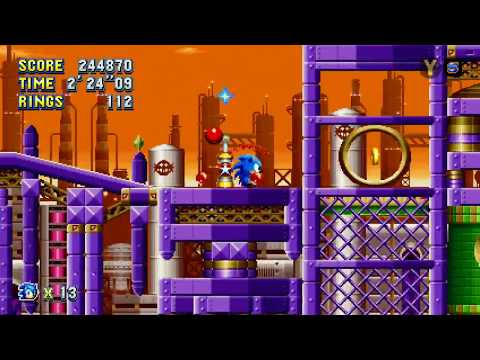 Let's Play Sonic Mania 05: Oil Metal Lava