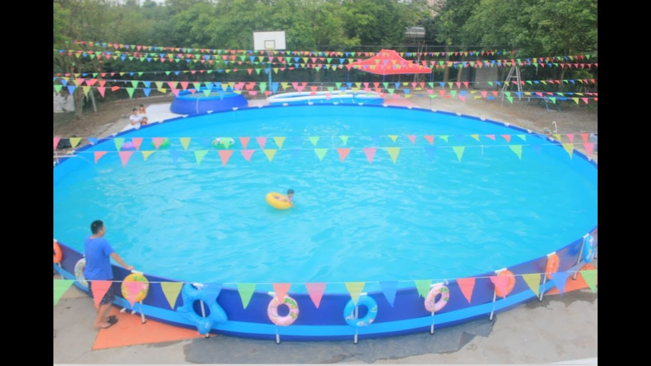 Above ground swimming pool china factory youtube - Largest above ground swimming pool ...