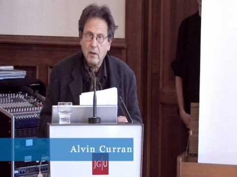 Music Outside the Concert Halls. Vortrag von Alvin Curran 1/5