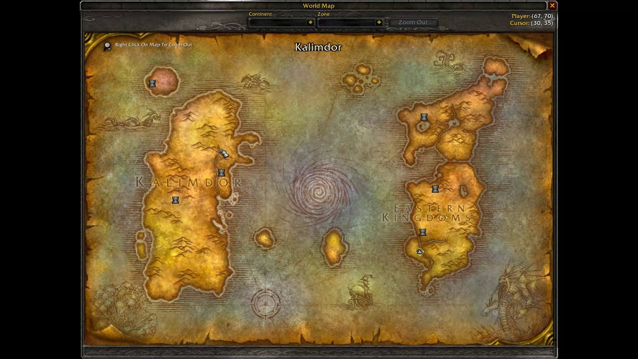 Skipping from Kalimdor to Eastern Kingdoms - useful for ... on draenor map, wow fossil dig sites map, azeroth map, stormwind map, orgrimmar map, guild wars 2 gendarran fields map, lordaeron map, molten core map, desolace map, dragonblight map, darkshore map, bloodmyst isle map, thousand needles map, eastern kingdoms map, ashenvale map, wrath of the lich king map, dustwallow marsh map, emerald dream map, undercity map, netherstorm map,