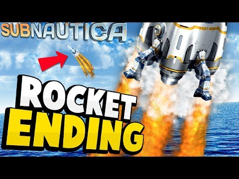 Subnautica - ROCKET CRAFTING + ESCAPE! Alternate Ending? Rocket Blueprints - Subnautica Update