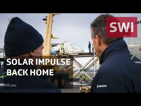 Record-breaking solar plane back in Switzerland