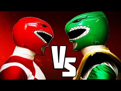 RED RANGER VS GREEN RANGER - Power Rangers BATTLES!