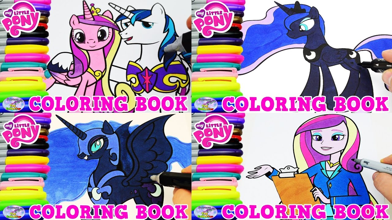 My Little Pony Coloring Book Princess Cadance Luna Episode Surprise ...
