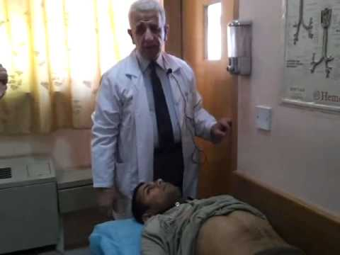Baghdad medical city,clinical examination video,by dr.Hamza Alsabah(Abdominal exam.)