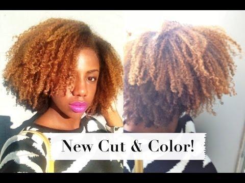 Blonde Natural Hair Color and Cut at Hair Rules Salon NYC