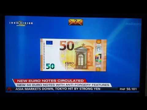 New 50 Euro Banknote CNA ( recorded 4 April 2017 )