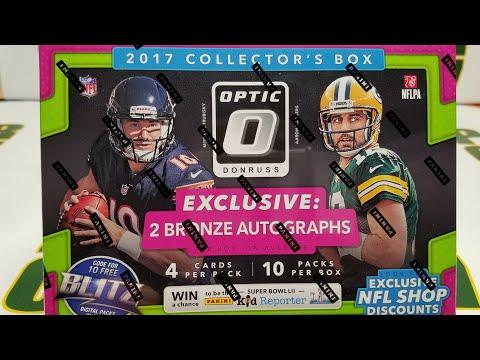 2017 Optic Football Retail  Collectors Box. 2 Autos per Box. $50 Target Box