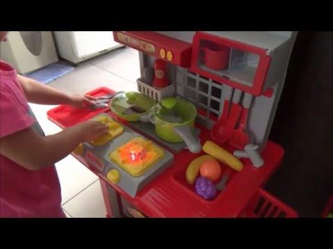 Toy Kitchen Playset For Kids Anak Main Masak Masakan Mainan Dapur Youtube