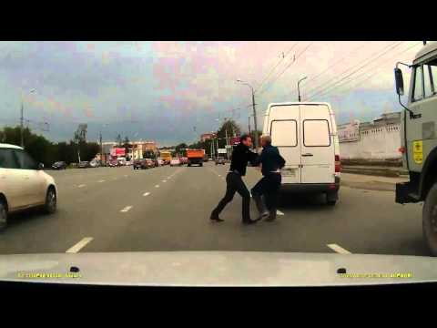 DASH CAM HD  Cement Truck Driver Falls Victim To Road Rage Bully
