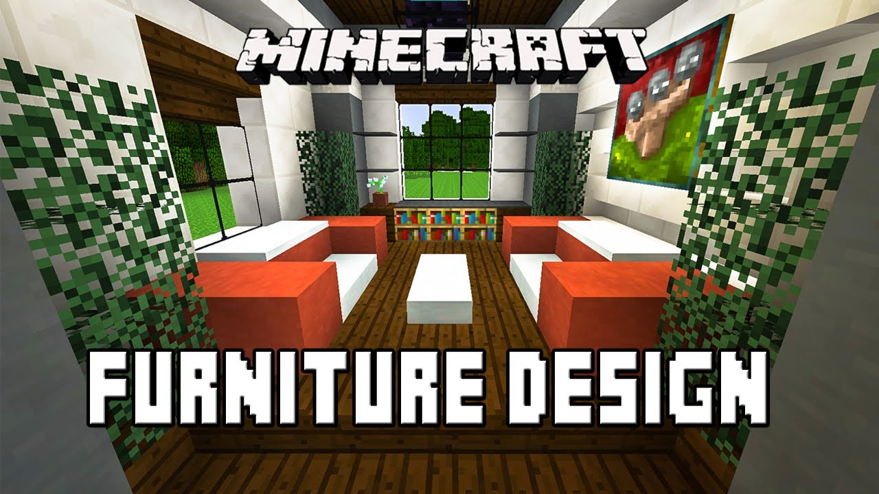Minecraft tutorial how to make living room furniture for Minecraft house interior living room