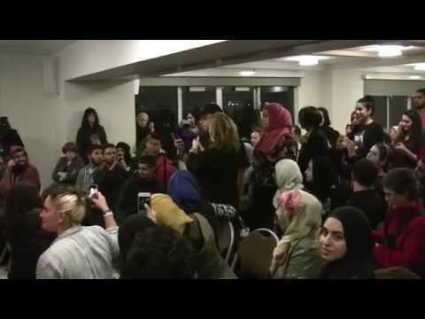 Brooklyn College Students Harassing Pamela Geller (Muslim Students Stifling Free Thought)