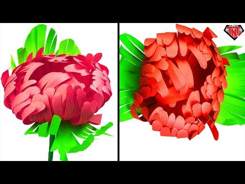 How to make paper chrysanthemum flower   DIY Paper beautiful mums flower