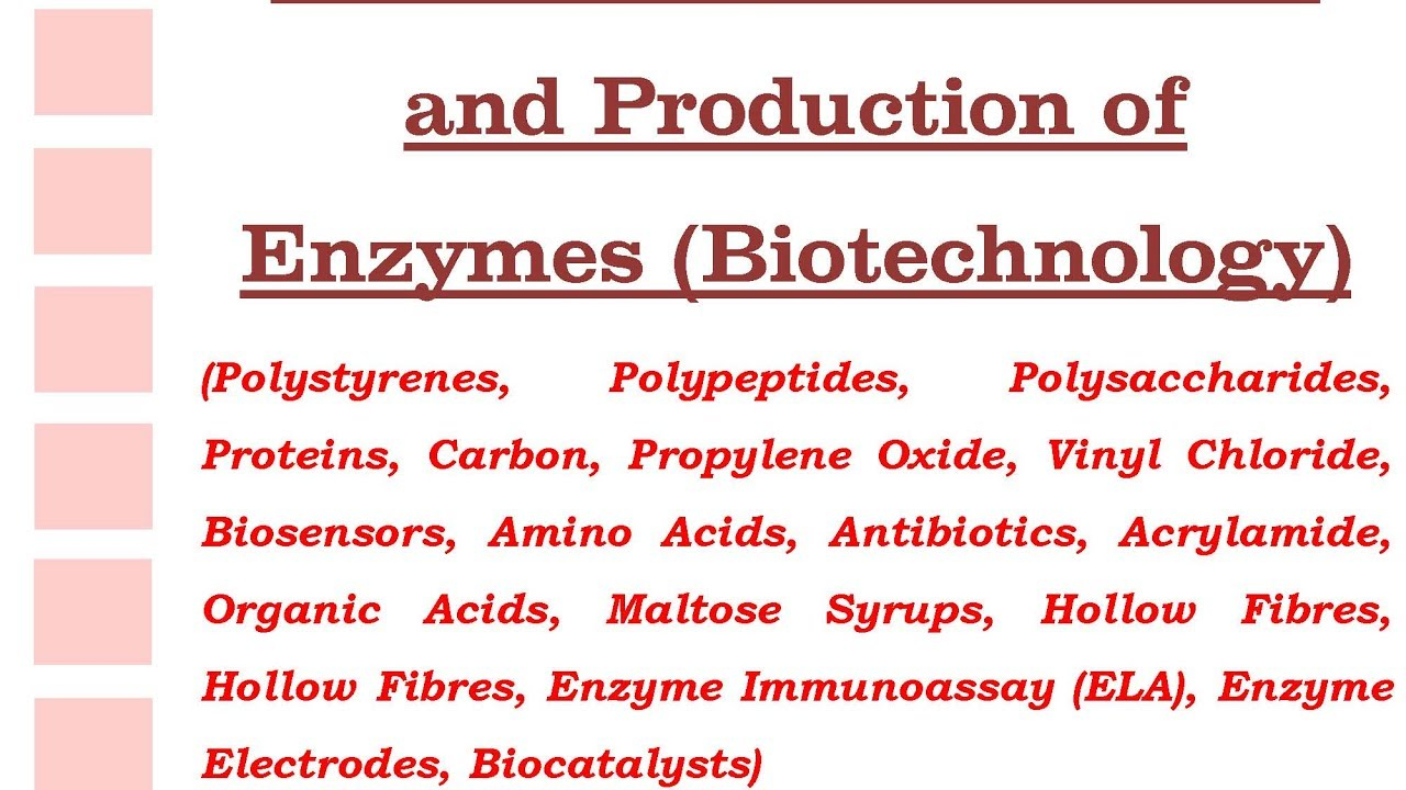 Extraction Purification And Production Of Enzymes