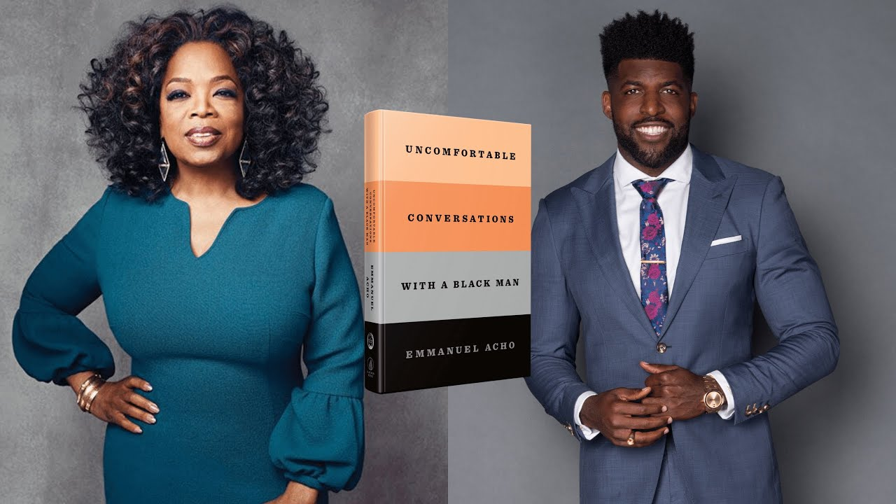 """WATCH: Emmanuel Acho to Publish """"Uncomfortable Conversations With a Black Man"""" as a Book in Partnership With Oprah Winfrey"""