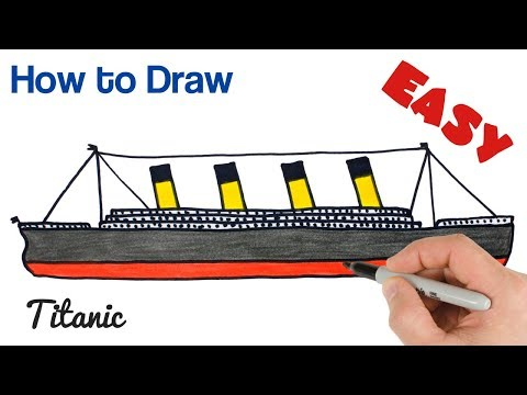 How to Draw Titanic Easy Step by Step Art Tutorial thumbnail