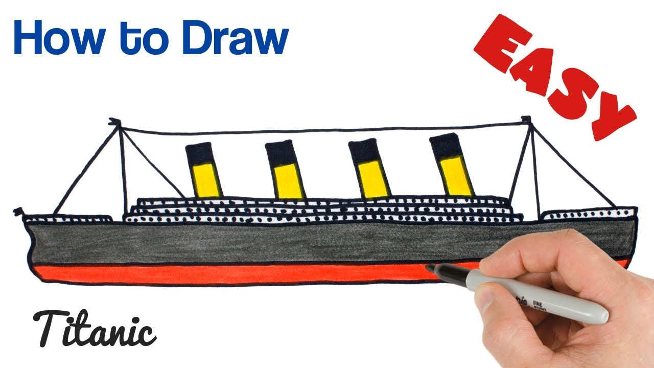 8e7054ec How to Draw Titanic Easy Step by Step Art Tutorial