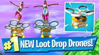 NEW Hot Spots Loot Carriers (Drones) Added! - Fortnite Battle Royale