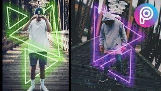 PicsArt Tutorial - Edit Foto Neon Glowing Shape
