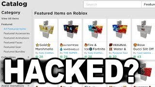 Was the Roblox Catalog HACKED?