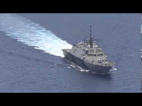 Chinese Frigate Stalking U S  Navy Warship in South China Sea. Spratly Islands of Vietnam