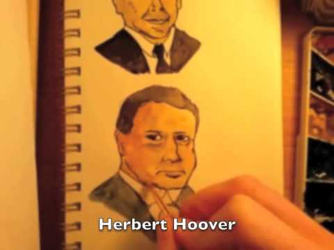 Drawing 44 presidents in 90 seconds