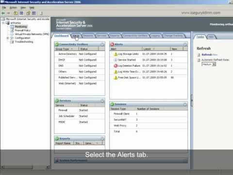 How To Configure Alert Definitions On ISA 2006?