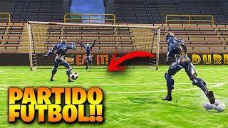 PARTIDO DE FUTBOL en el *NUEVO ESTADIO DE FUTBOL* en FORTNITE - Futbol en Fortnite ⚽