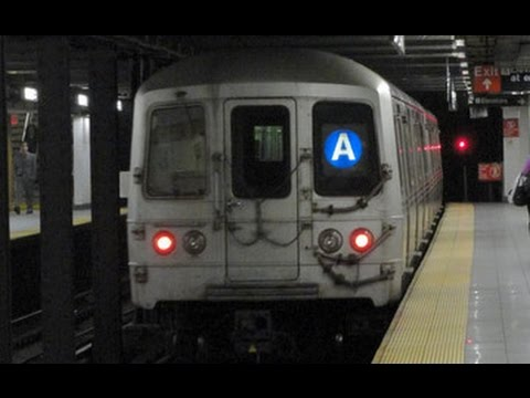 IND Eighth Avenue: Double (A) trains at 14 Street