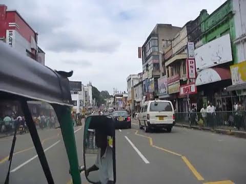Sri Lanka,ශ්රී ලංකා,Ceylon, Kandy : Tuk Tuk ride through City Center