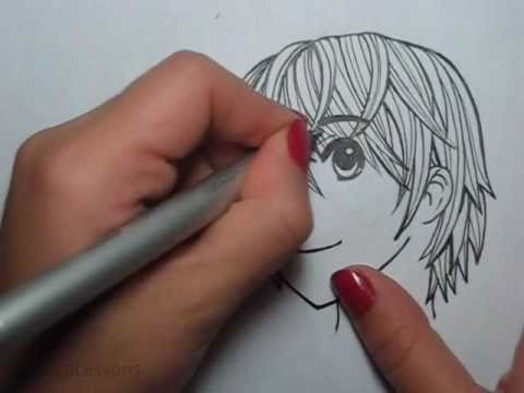 how to draw male manga hair