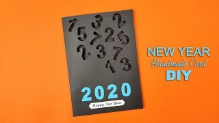 How to Make Unique Happy New Year 2020 Card New Year Greeting Cards Latest Design Handmade