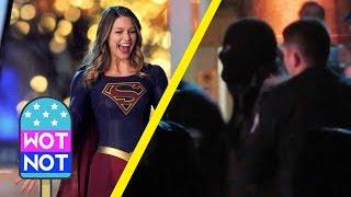 Supergirl Melissa Benoist Behind-The-Scenes Filming in Vancouver