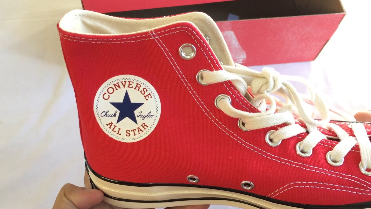 dde76cf43edd86 Unboxing Converse CT 70 Hi Red Chuck Taylor - YouTube