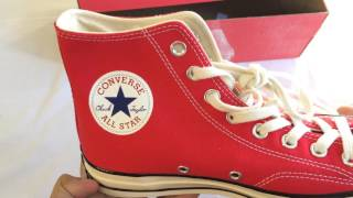 Unboxing Converse CT 70 Hi Red Chuck Taylor