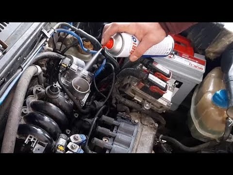 Balata Spray With Suction Manifold, Maf Sensor, How To Clean Gas Butterfly; Fiat Gasoline