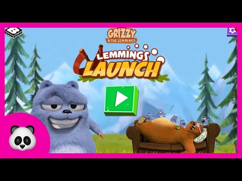 Gryzzy and the Lemmings - Lemmings Launch | Гризли и лемминги | Zlata Game Time