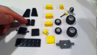 How to build a Lego Lawn tractor ( lawn  mower ) MOC